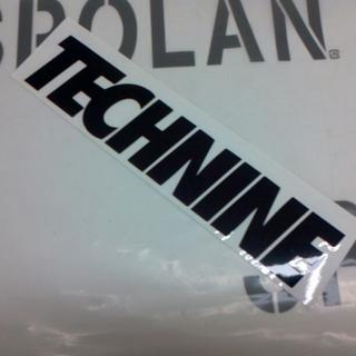 テックナイン(TECHNINE)のTECHNINE テックナイン DIECUT LOGOSTICKER 黒20cm(アクセサリー)