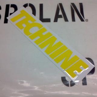 テックナイン(TECHNINE)のTECHNINE テックナイン DIECUT LOGOSTICKER 黄20cm(アクセサリー)