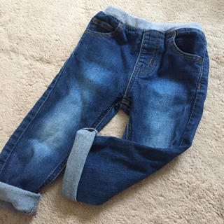 ムジルシリョウヒン(MUJI (無印良品))の90サイズ 無地良品 ストレッチデニム パンツ(パンツ/スパッツ)