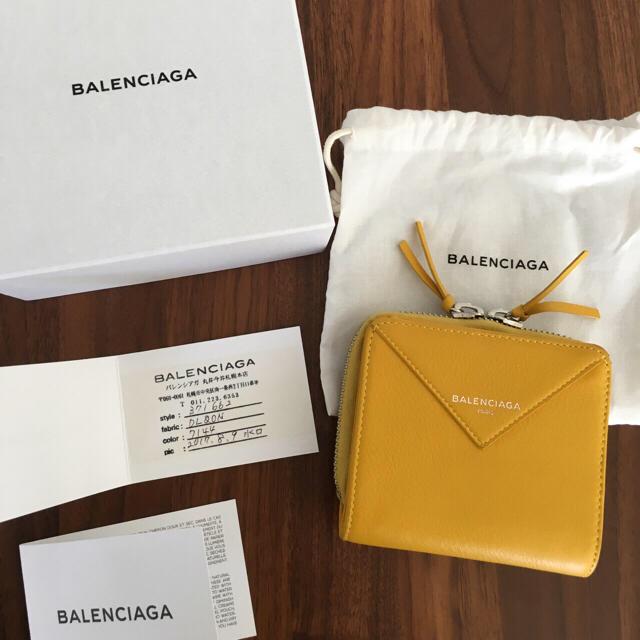 new products b5358 bbe55 バレンシアガ ペーパーウォレット BALENCIAGA 二つ折り | フリマアプリ ラクマ