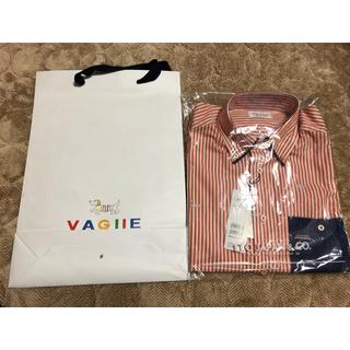 バジエスポーツ(VAGIIE SPORT)のバジエ  カプリ オレンジストライプシャツ(シャツ)