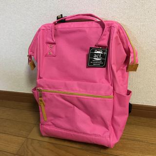 アクト(ACT)のact がま口リュック 春色ピンク 新品未使用(リュック/バックパック)