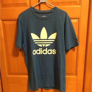 アディダス(adidas)のadidasoriginals ドット柄Tシャツ ブルー 大幅値下げ!(Tシャツ/カットソー(半袖/袖なし))