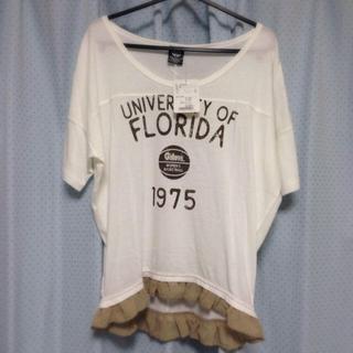 バビロン(BABYLONE)のタグ付き✴︎裾フリルTシャツ(Tシャツ(半袖/袖なし))