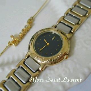 サンローラン(Saint Laurent)のYSLヴィンテージウォッチ コンビ・黒(腕時計)