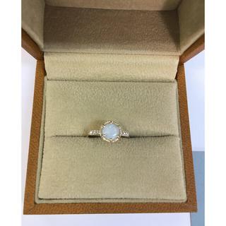 アッシュペーフランス(H.P.FRANCE)のtatsuo nagahata オパール リング 新品 10KYG ダイヤモンド(リング(指輪))