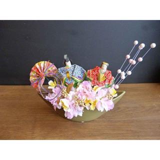 【ひな祭り】三日月器の桃の節句アレンジ ー餅花(その他)