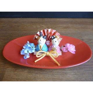 【ひな祭り】楕円器の桃の節句アレンジ ーネコ(その他)