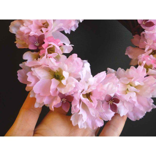 ~スプリングリース~ 春待ち満開ざくら 小 ハンドメイドのフラワー/ガーデン(リース)の商品写真