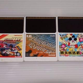 エヌイーシー(NEC)の中古PCエンジンソフト4枚セット ☆バラエティセット ☆(家庭用ゲームソフト)