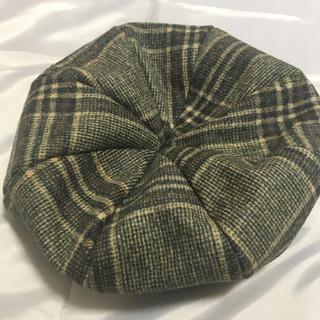 イーハイフンワールドギャラリー(E hyphen world gallery)のE hyphen world gallery チェック ベレー帽(ハンチング/ベレー帽)