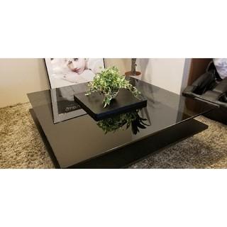 定価64800円 送料無料 センターテーブル ガラステーブル 木目 ガラス(ローテーブル)
