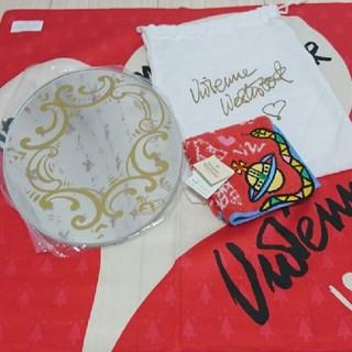 ヴィヴィアンウエストウッド(Vivienne Westwood)のVivienne Westwood ミラー未使用品&ハンカチ新品(ミラー)