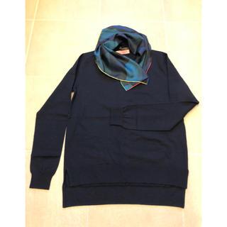 ルイヴィトン(LOUIS VUITTON)のLOUIS VUITTON スカーフ付きニット(ニット/セーター)