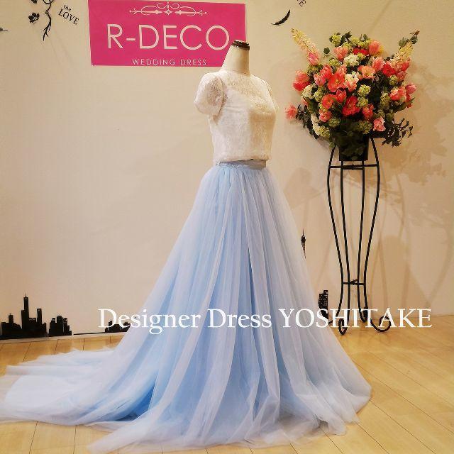 ウエデイングドレス セパレートドレス 二次会/レストランウエディング レディースのフォーマル/ドレス(ウェディングドレス)の商品写真
