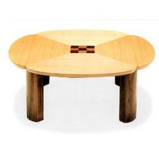 新品 90cm 丸テーブル 折脚 日本製(ローテーブル)