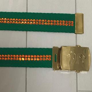 グリーン 緑 オレンジ キラキラ ベルト(ベルト)