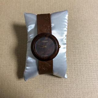 木の時計 TISSOT