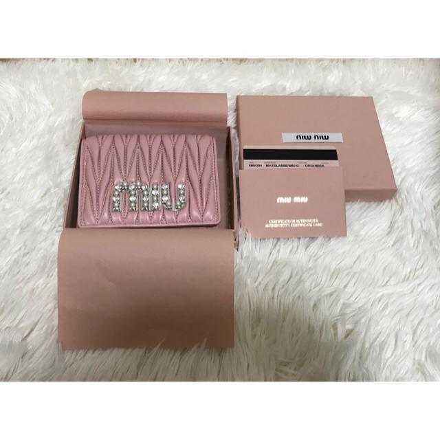 531936cfc541 miumiu - miumiu ビジュー 財布 の通販 by くまさん's shop|ミュウ ...
