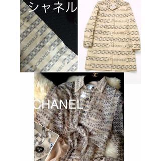 シャネル(CHANEL)の値下げ!シャネルスカーフ& &シルクブラウスロゴ トレンチコート新品同様の美しさ(トレンチコート)