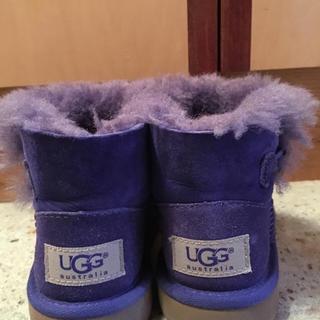 アグ(UGG)のUGG ブーツ パープル 16cm(ブーツ)