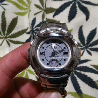 ベビージー(Baby-G)の電波ソーラー 腕時計 CASIO Baby-G msg-1200d シルバー(腕時計)