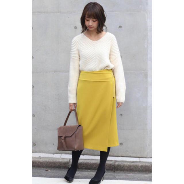 Noble(ノーブル)のNOBLE  ダブルクロスラップスカート レディースのスカート(ひざ丈スカート)の商品写真