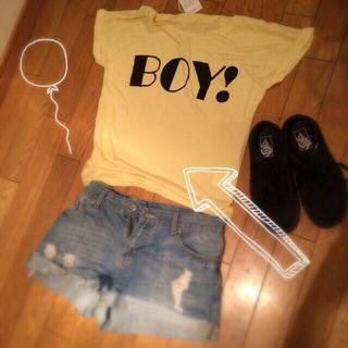 グレイル(GRL)の未使用☆BOY! Tシャツ(Tシャツ(半袖/袖なし))