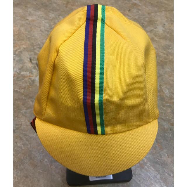 サイクリングキャップ イエロー スポーツ/アウトドアの自転車(ウエア)の商品写真