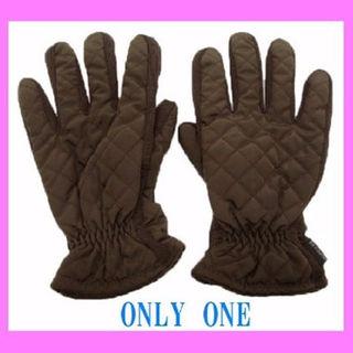 モンクレール(MONCLER)のモンクレール こげ茶 メンズ 手袋 S グローブ MONCLER ブラウン(手袋)