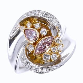 《大粒》天然ファンシーパープルピンクダイヤ計0.525ct&ダイヤ0.36ct(リング(指輪))