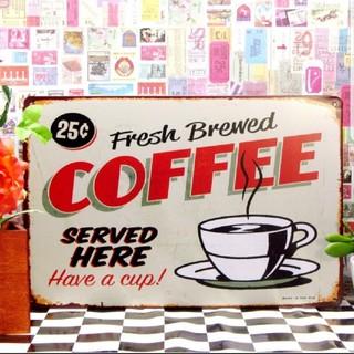 ブリキ看板】コーヒー 25c★1000種類★れんと(その他)