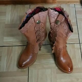 チヨダ(Chiyoda)の限定値下げ ヴィンテージ風 チヨダ ウエスタン 合皮 ブーツ LL (ブーツ)