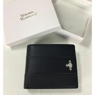ヴィヴィアンウエストウッド(Vivienne Westwood)の★新品★ 二つ折り財布 ヴィヴィアン レザー ブラック(財布)