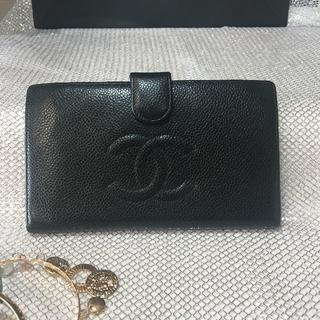 シャネル(CHANEL)の★シャネル・がま口折り財布♡キャビアスキン メンズ レディース  正規品(折り財布)