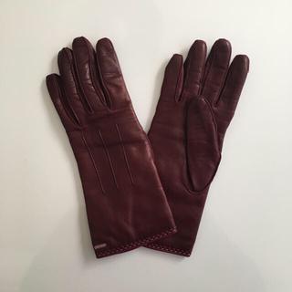 コーチ(COACH)のコーチ COACH レザーグローブ ブラウン(手袋)
