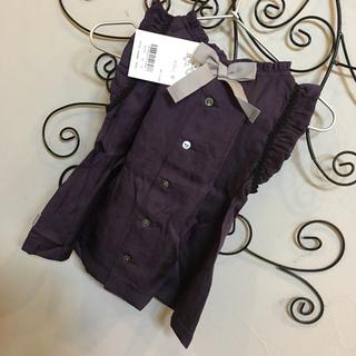 セレク(CELEC)の新品 90 定価9,345円 リシェス ワンピース チュニック リボン 紫(ワンピース)