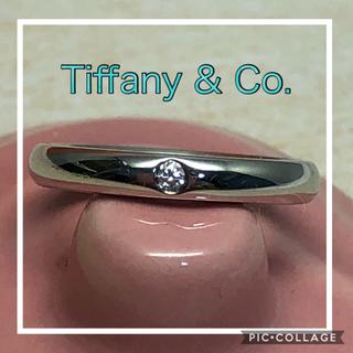 ティファニー(Tiffany & Co.)の8月10日お取り置き中 ティファニー Pt950ダイヤ スタッキングバンドリング(リング(指輪))