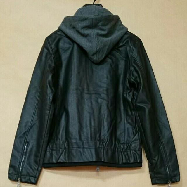 TETE HOMME(テットオム)の☆TETE テットオム フェイクレイヤード ライダース ジャケット 新品L☆ メンズのジャケット/アウター(ライダースジャケット)の商品写真