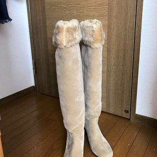 ベージュ ロングブーツ (ブーツ)