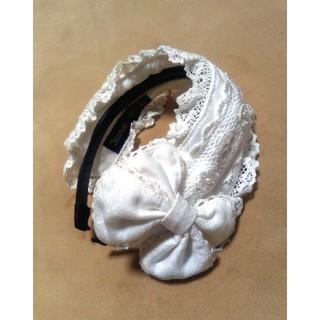 イノセントワールド(Innocent World)のヘッドドレス カチューシャ リボン レース 白 ホワイト クラシカル フリル(カチューシャ)