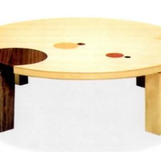 新品 120㎝丸テーブル 折脚 日本製(ローテーブル)