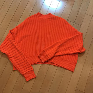 ジーヴィジーヴィ(G.V.G.V.)のgvgv オレンジのセーター(ニット/セーター)
