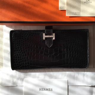 エルメス(Hermes)のエルメス ダイア付き ベアン お財布 アリゲーター 本物(財布)