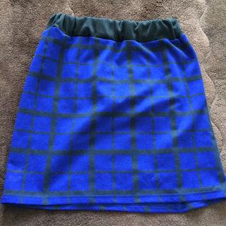 アベイル(Avail)の美品 青チェックスカート(ミニスカート)