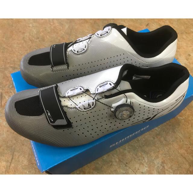SHIMANO(シマノ)のシマノRC7 ホワイト系ロードビンディングシューズ スポーツ/アウトドアの自転車(ウエア)の商品写真