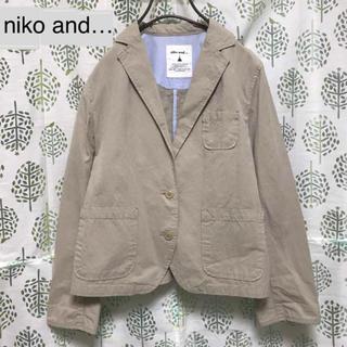 ニコアンド(niko and...)の美品 nico and…  コットンジャケット(テーラードジャケット)