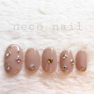 neco nail No.23 トープベージュ♡ショート サイズ変更可