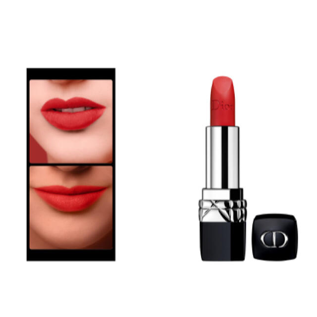 wholesale dealer d3714 46bf9 Dior 999 マット 口紅 リップ