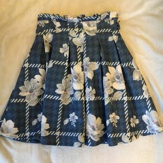 リズリサ(LIZ LISA)のLIZ LISA 千鳥柄フラワースカート(ひざ丈スカート)